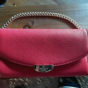 Kate Spade Red Flapover Clutch Wallet